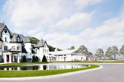 漫步韩国水世界,经典的欧式建筑物清新大气