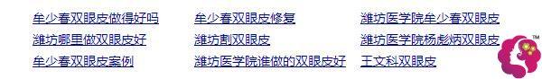 潍坊地区都找牟少春、杨彪炳医生做双眼皮